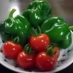 1.庭で育てた野菜です!