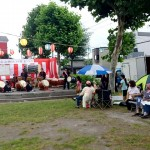 2017.8.11 町内会の夏祭り参加 太鼓見学