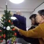 1.クリスマス会にむけて飾りつけ❣
