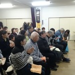 2018.11.21 町内会行事のタオル体操に参加